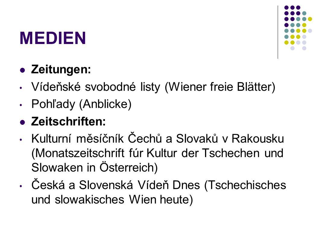 MEDIEN Zeitungen: Vídeňské svobodné listy (Wiener freie Blätter)