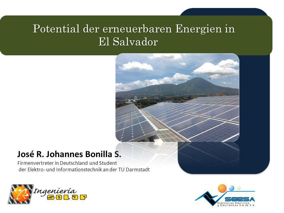 Potential der erneuerbaren Energien in El Salvador