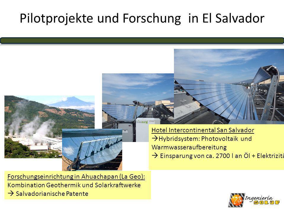 Pilotprojekte und Forschung in El Salvador