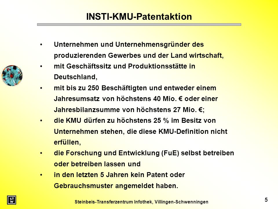 INSTI-KMU-Patentaktion