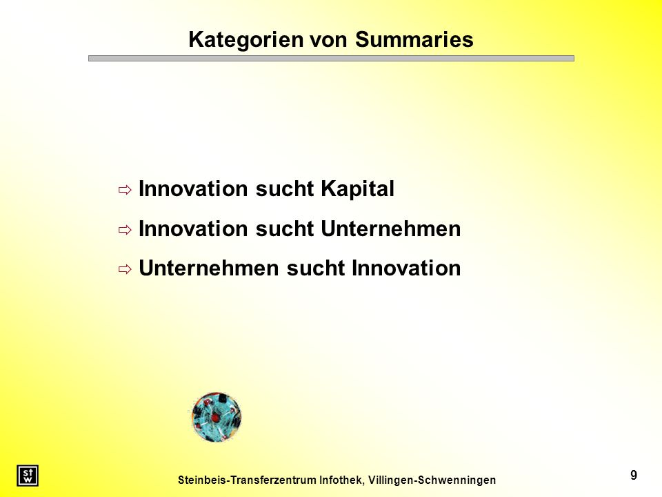 Kategorien von Summaries