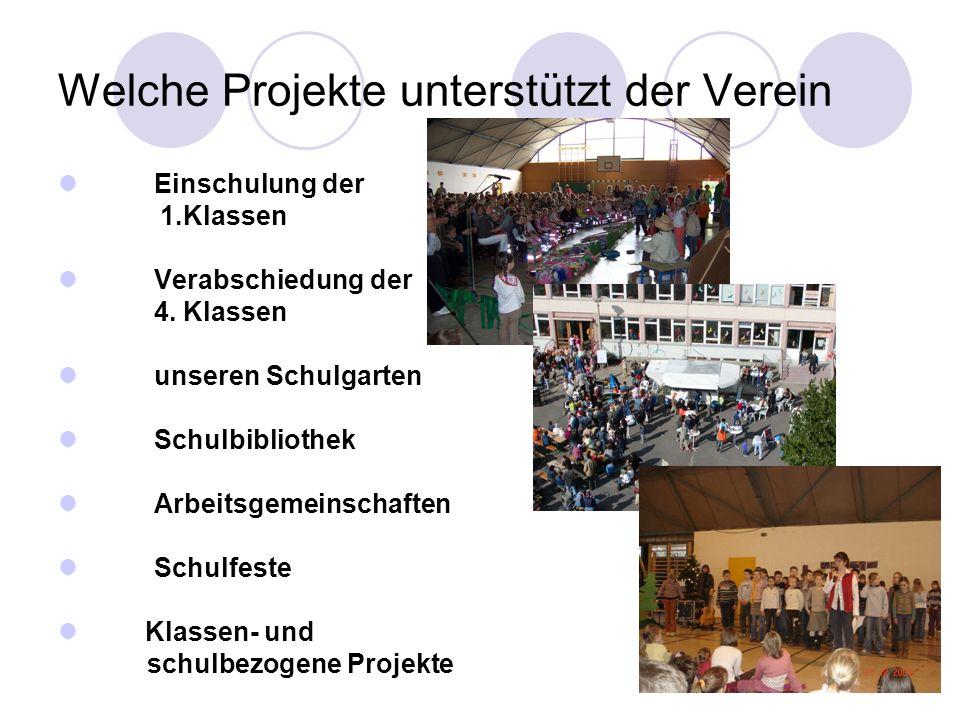 Welche Projekte unterstützt der Verein