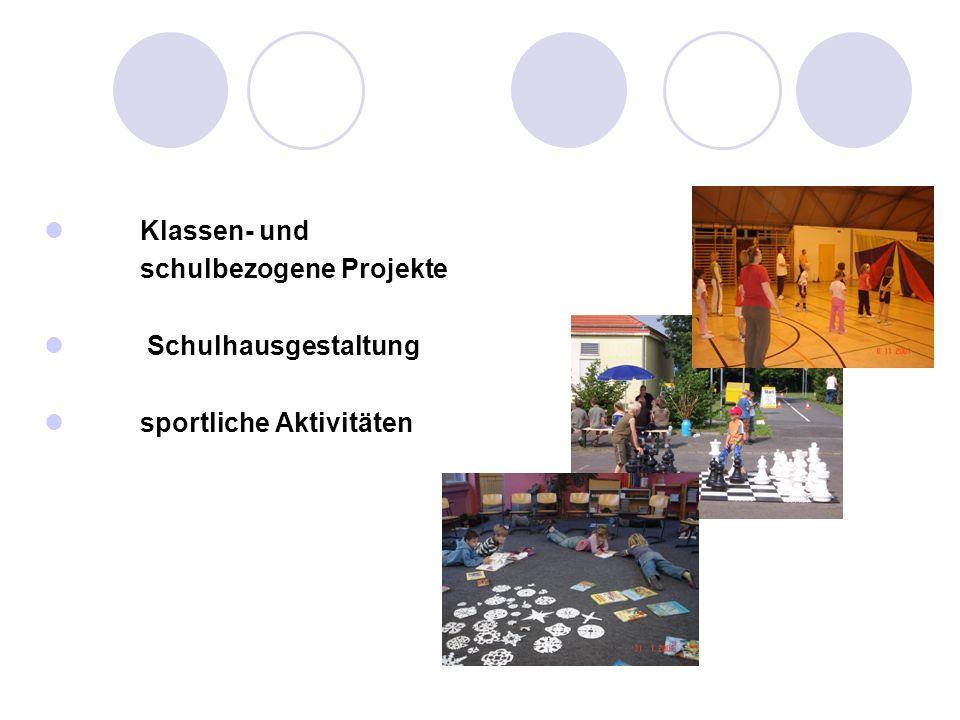 Klassen- und schulbezogene Projekte Schulhausgestaltung sportliche Aktivitäten