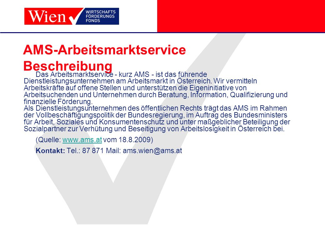 AMS-Arbeitsmarktservice Beschreibung