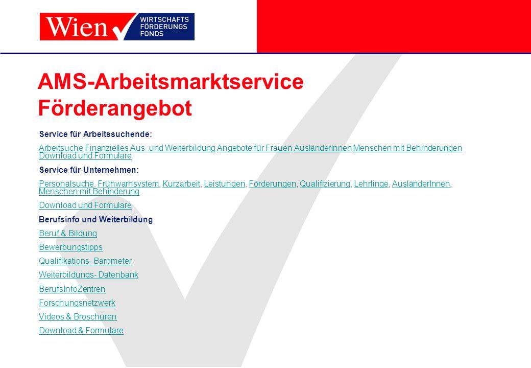 AMS-Arbeitsmarktservice Förderangebot
