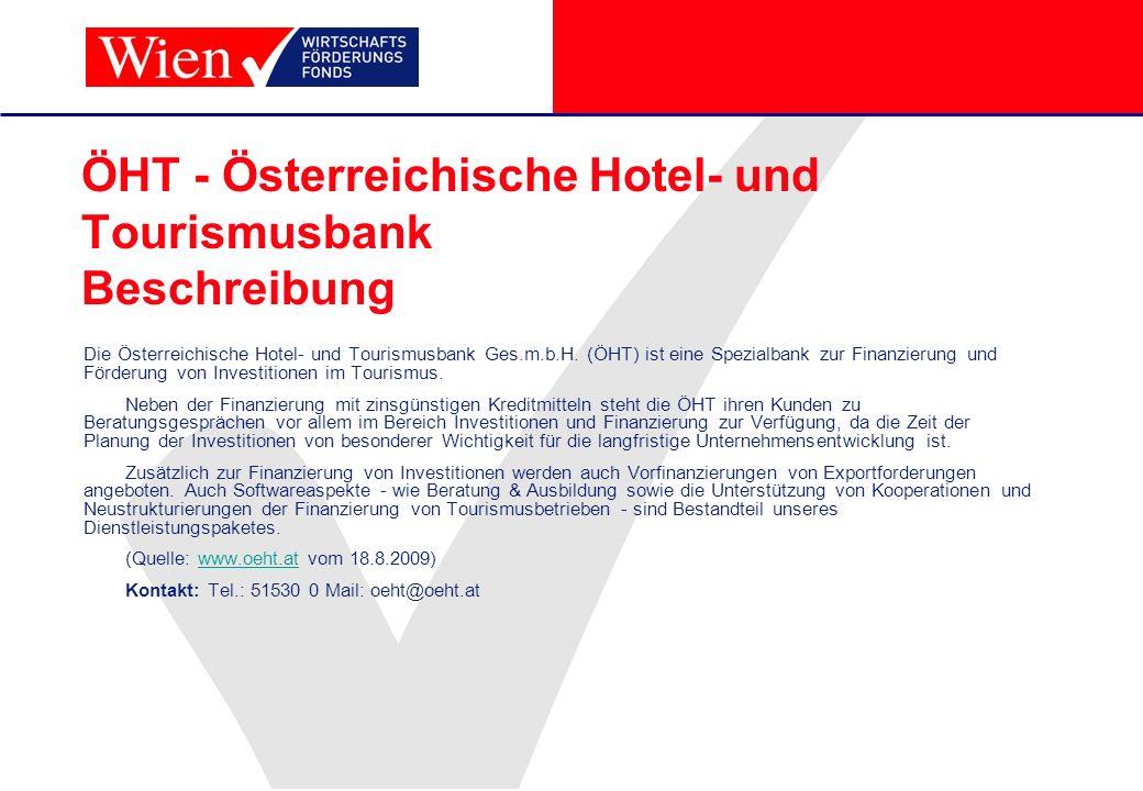ÖHT - Österreichische Hotel- und Tourismusbank Beschreibung
