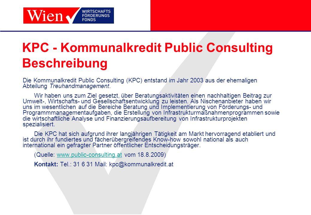 KPC - Kommunalkredit Public Consulting Beschreibung
