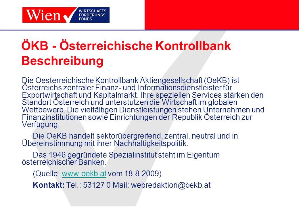 ÖKB - Österreichische Kontrollbank Beschreibung