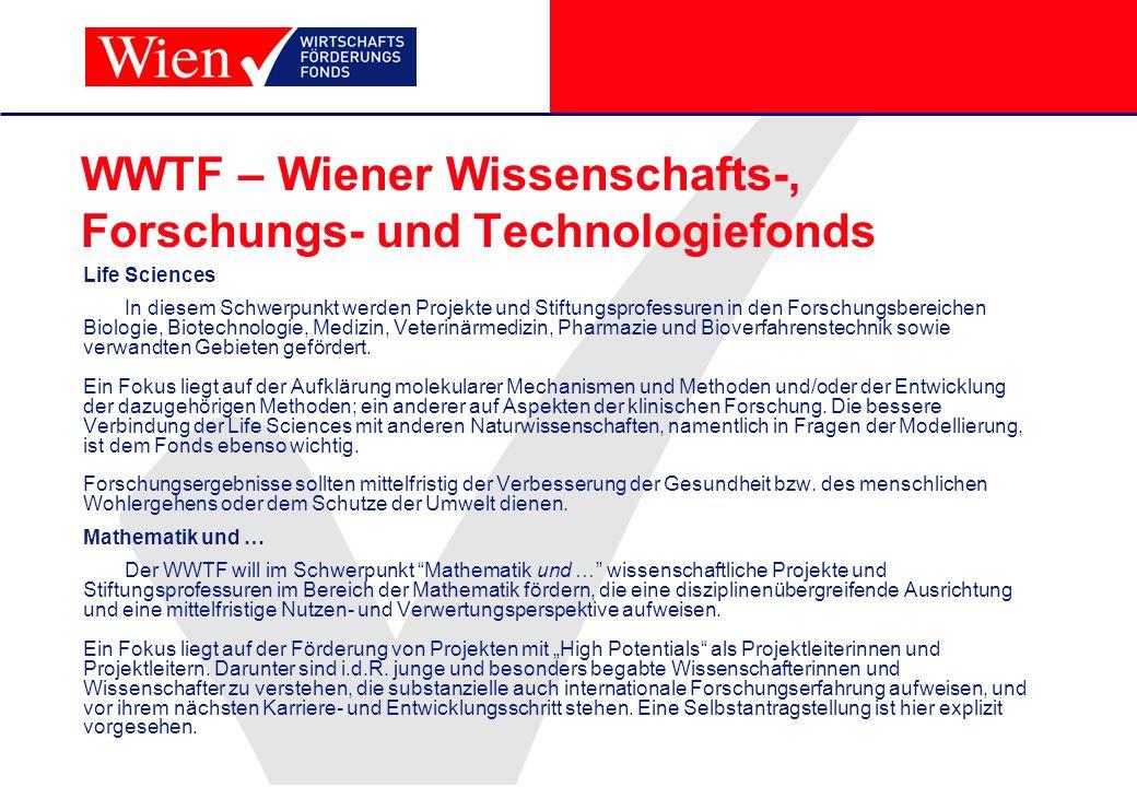 WWTF – Wiener Wissenschafts-, Forschungs- und Technologiefonds