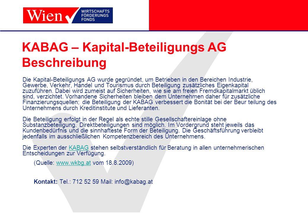 KABAG – Kapital-Beteiligungs AG Beschreibung
