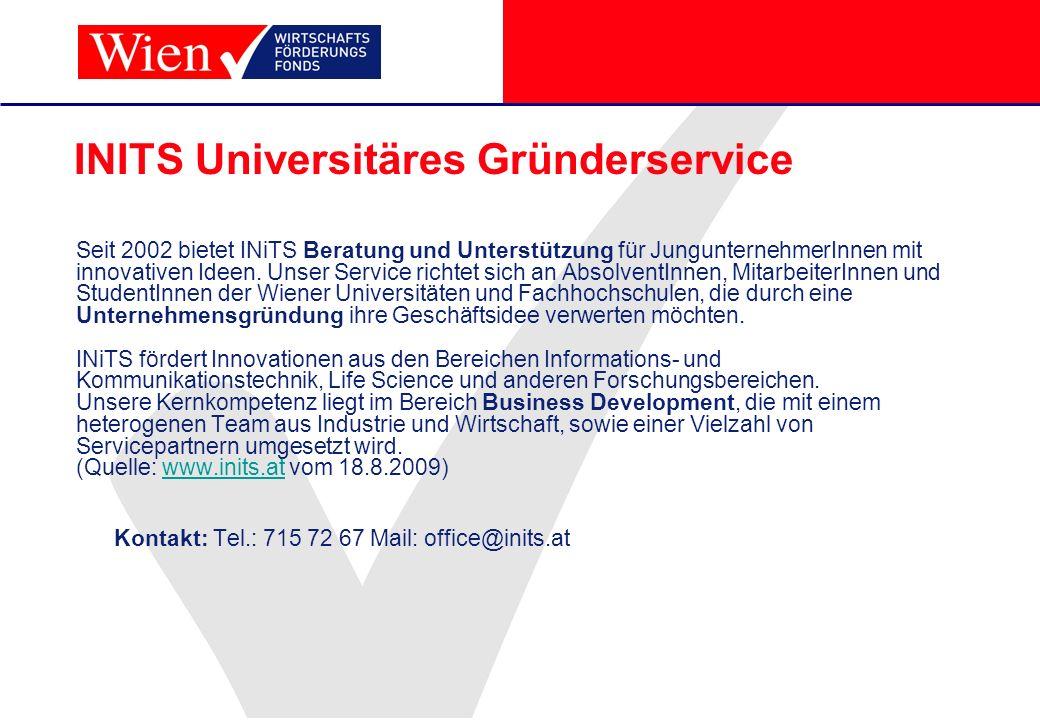 INITS Universitäres Gründerservice