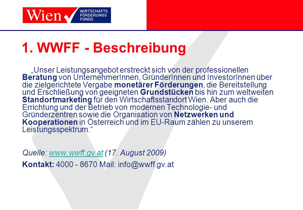 1. WWFF - Beschreibung