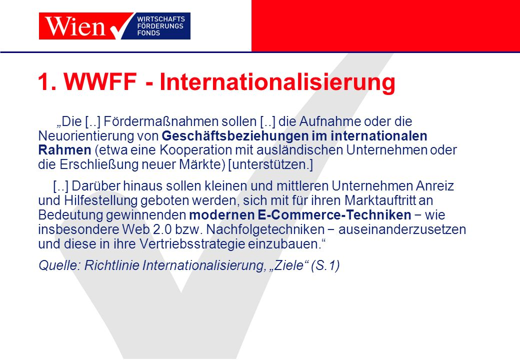 1. WWFF - Internationalisierung