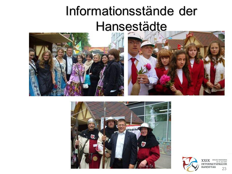 Informationsstände der Hansestädte