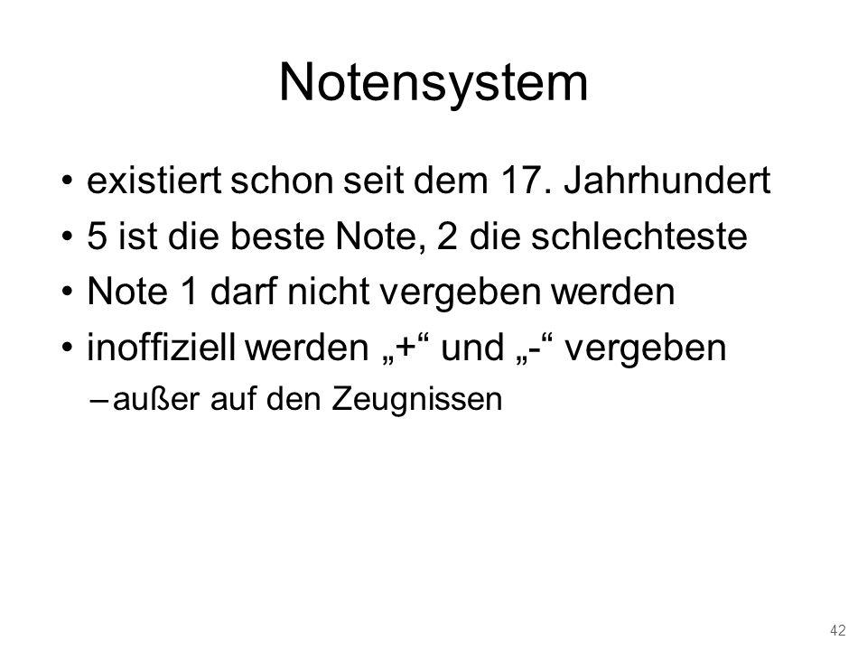 Notensystem existiert schon seit dem 17. Jahrhundert