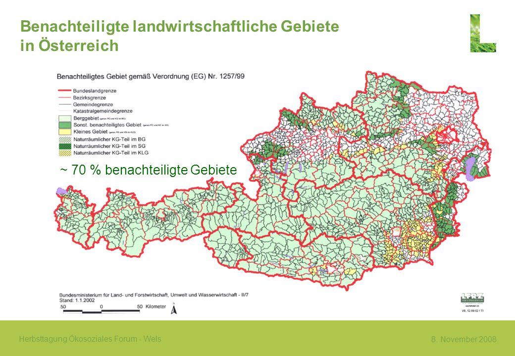 Benachteiligte landwirtschaftliche Gebiete in Österreich