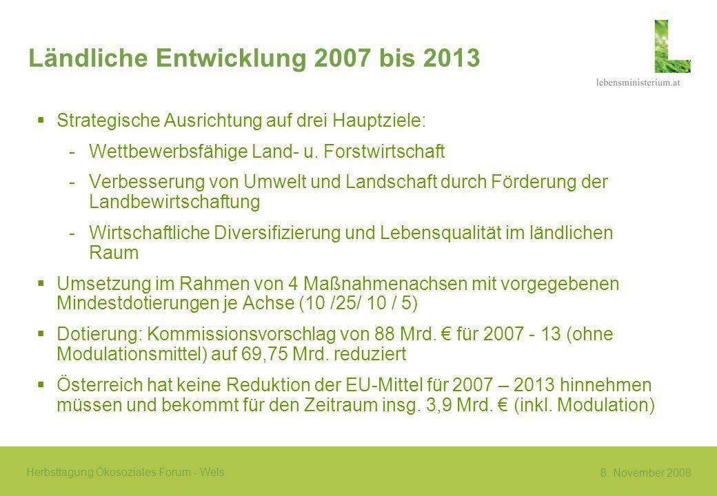 Ländliche Entwicklung 2007 bis 2013
