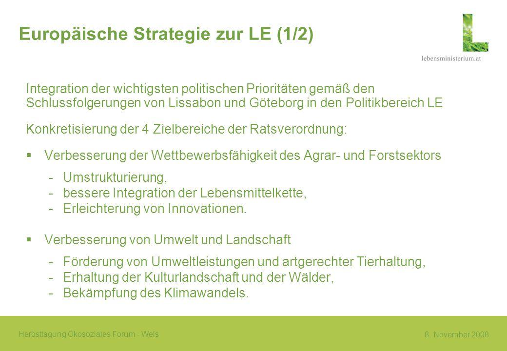 Europäische Strategie zur LE (1/2)