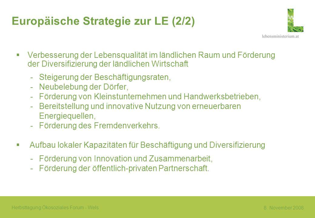 Europäische Strategie zur LE (2/2)