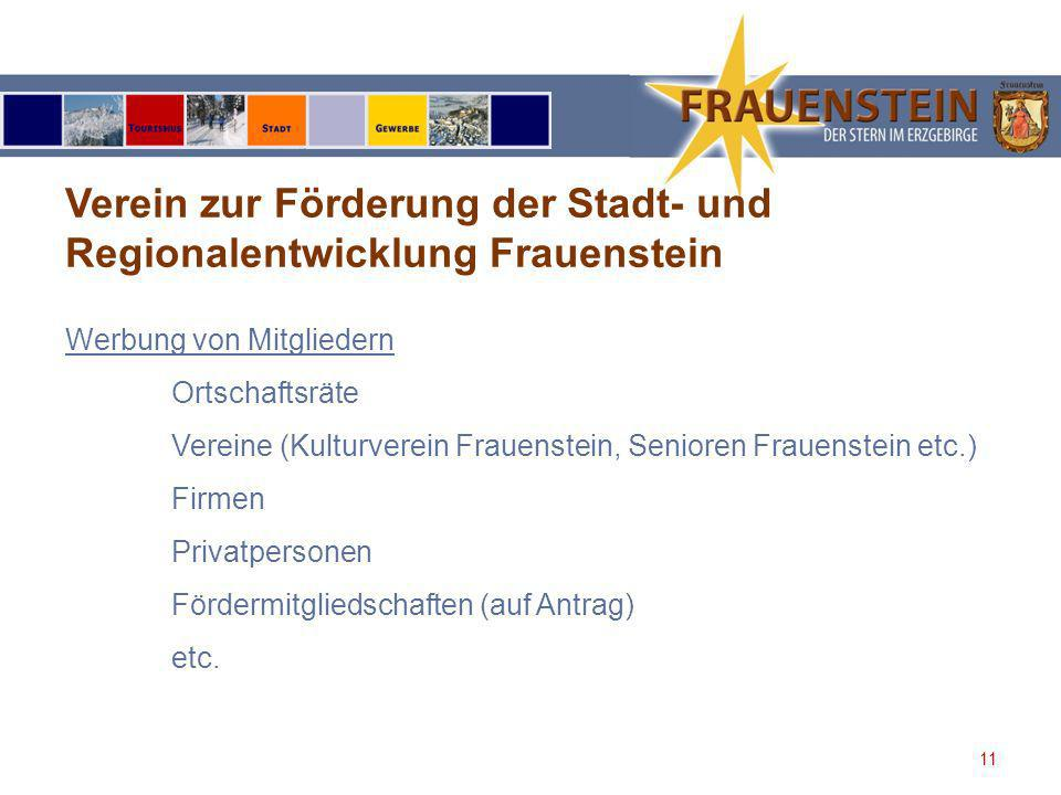 Verein zur Förderung der Stadt- und Regionalentwicklung Frauenstein