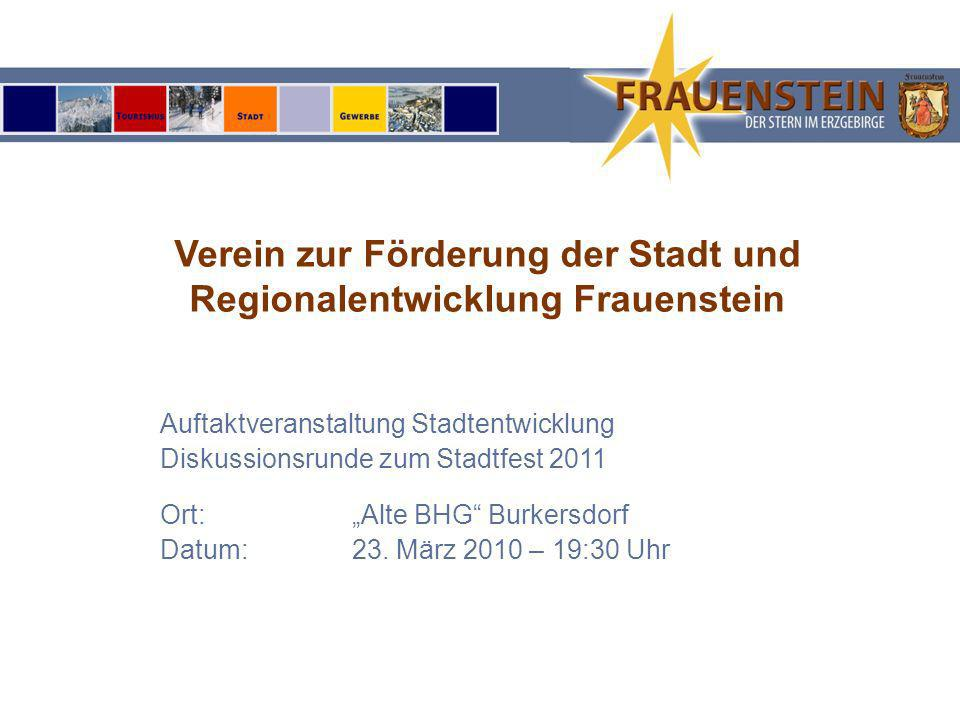 Verein zur Förderung der Stadt und Regionalentwicklung Frauenstein