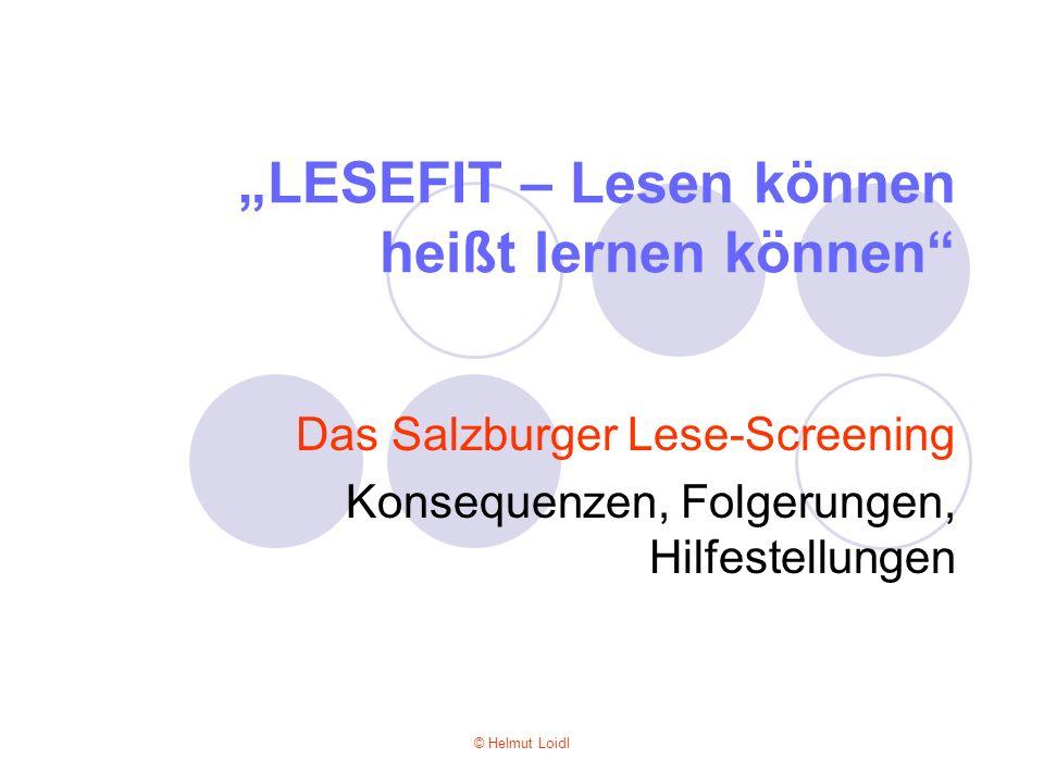 """""""LESEFIT – Lesen können heißt lernen können"""