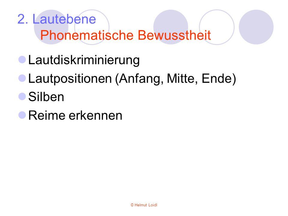 2. Lautebene Phonematische Bewusstheit