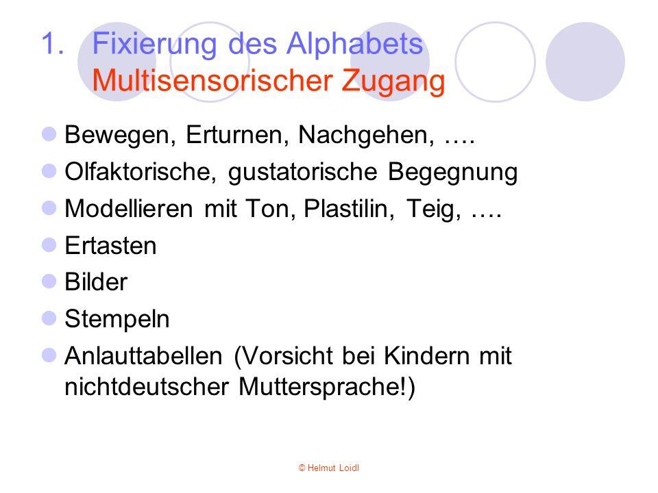 Fixierung des Alphabets Multisensorischer Zugang