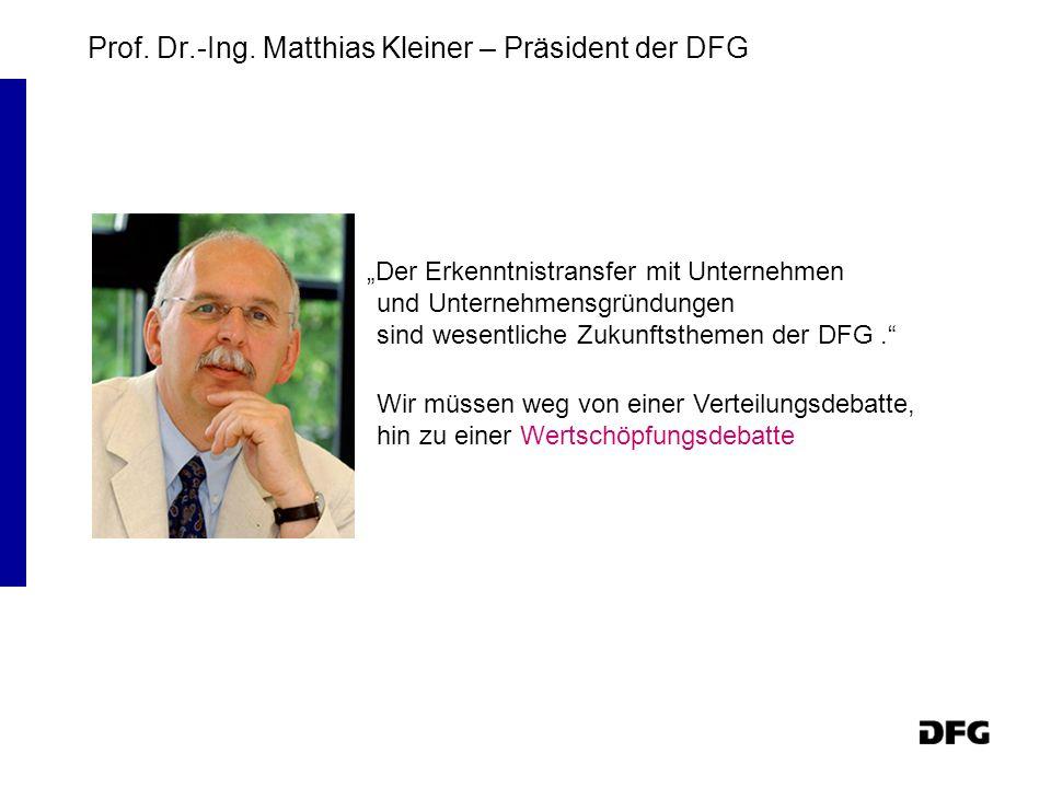 Prof. Dr.-Ing. Matthias Kleiner – Präsident der DFG