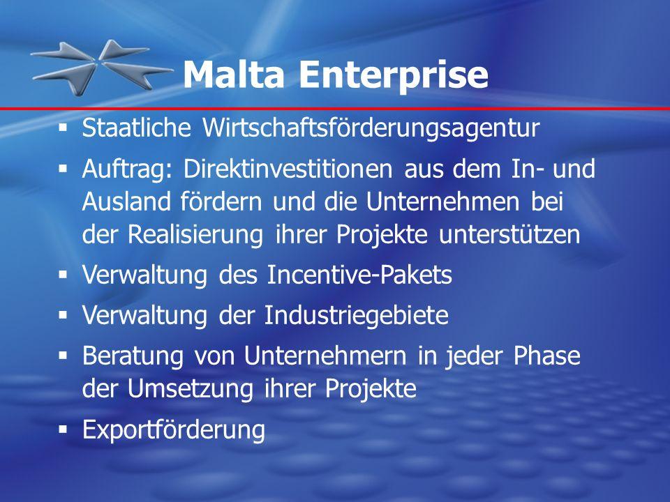 Malta Enterprise Staatliche Wirtschaftsförderungsagentur