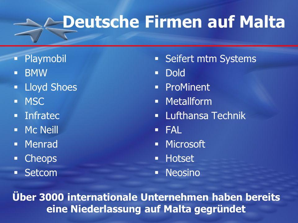Deutsche Firmen auf Malta