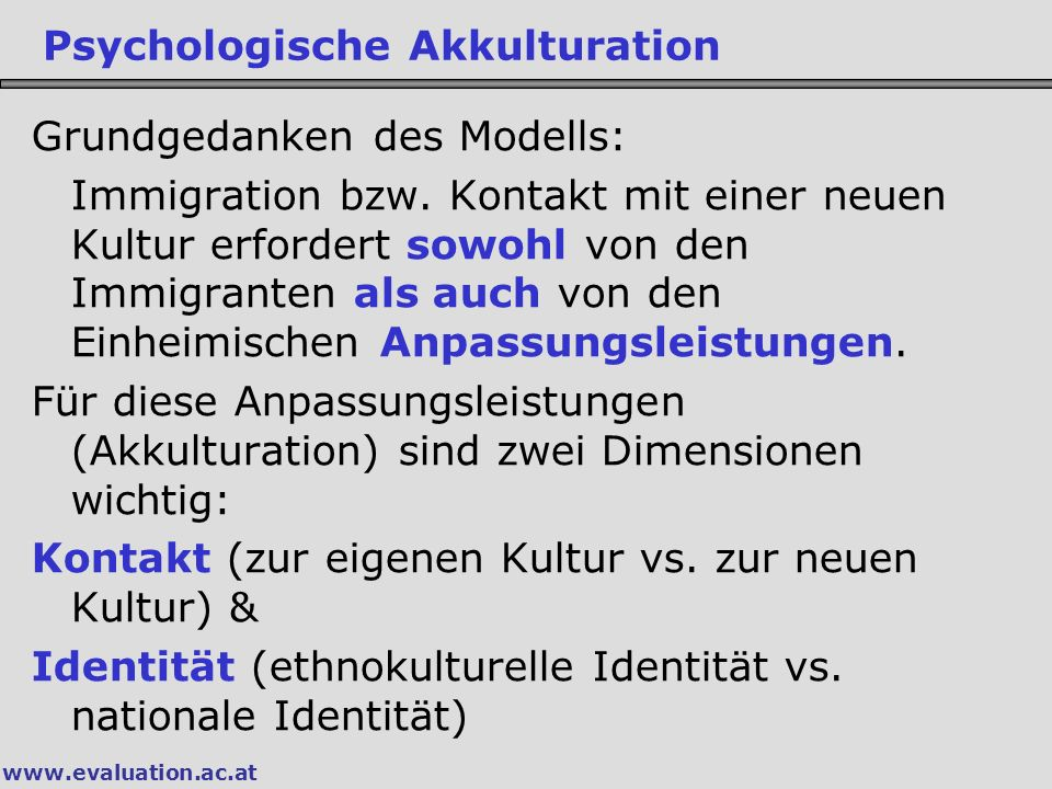 Psychologische Akkulturation