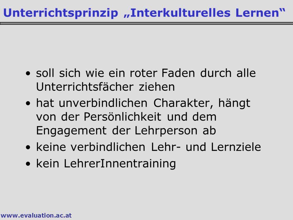 """Unterrichtsprinzip """"Interkulturelles Lernen"""