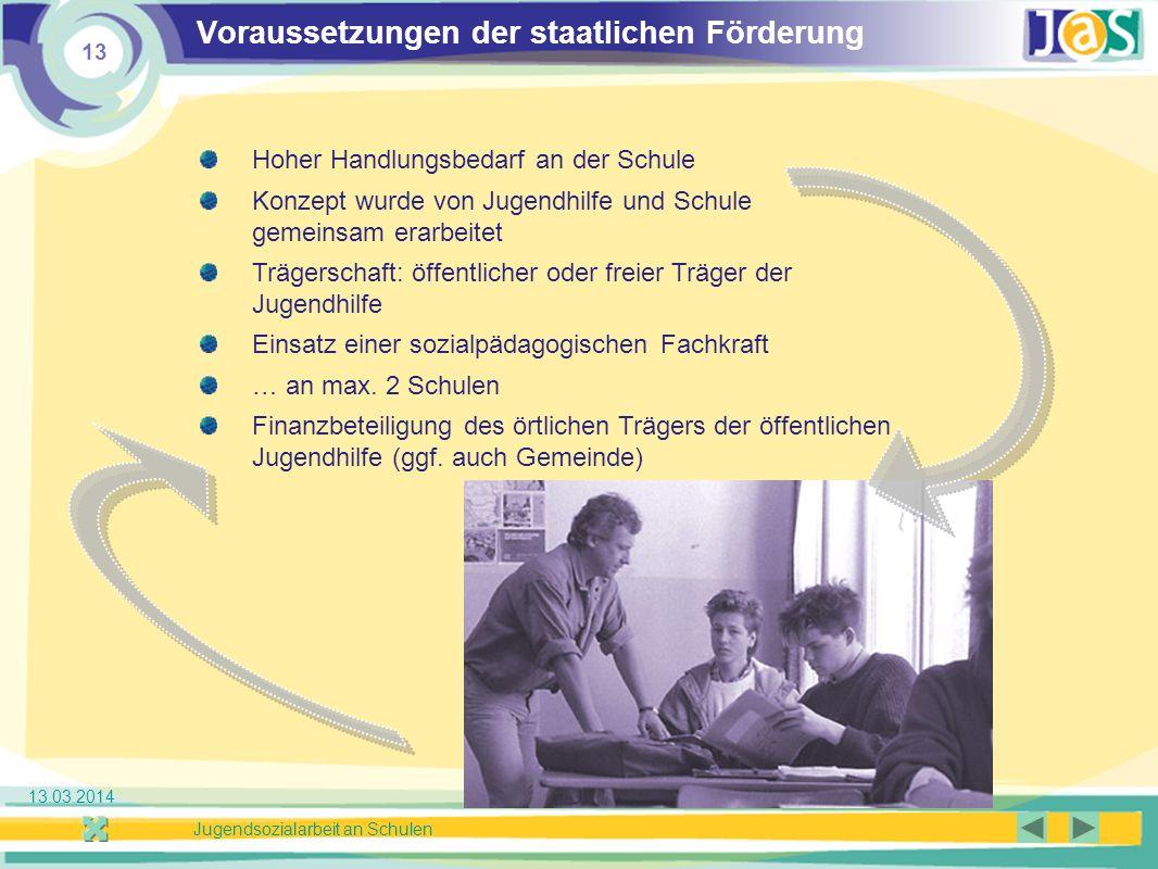 Voraussetzungen der staatlichen Förderung