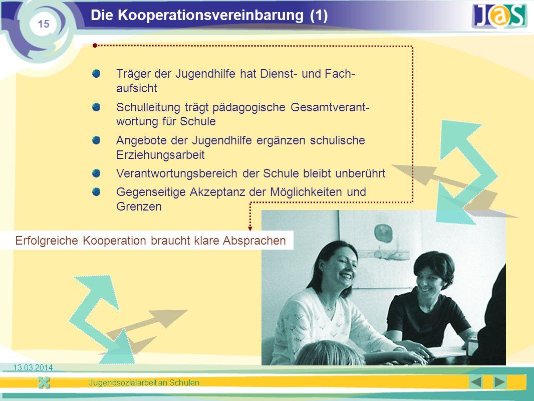 Die Kooperationsvereinbarung (1)