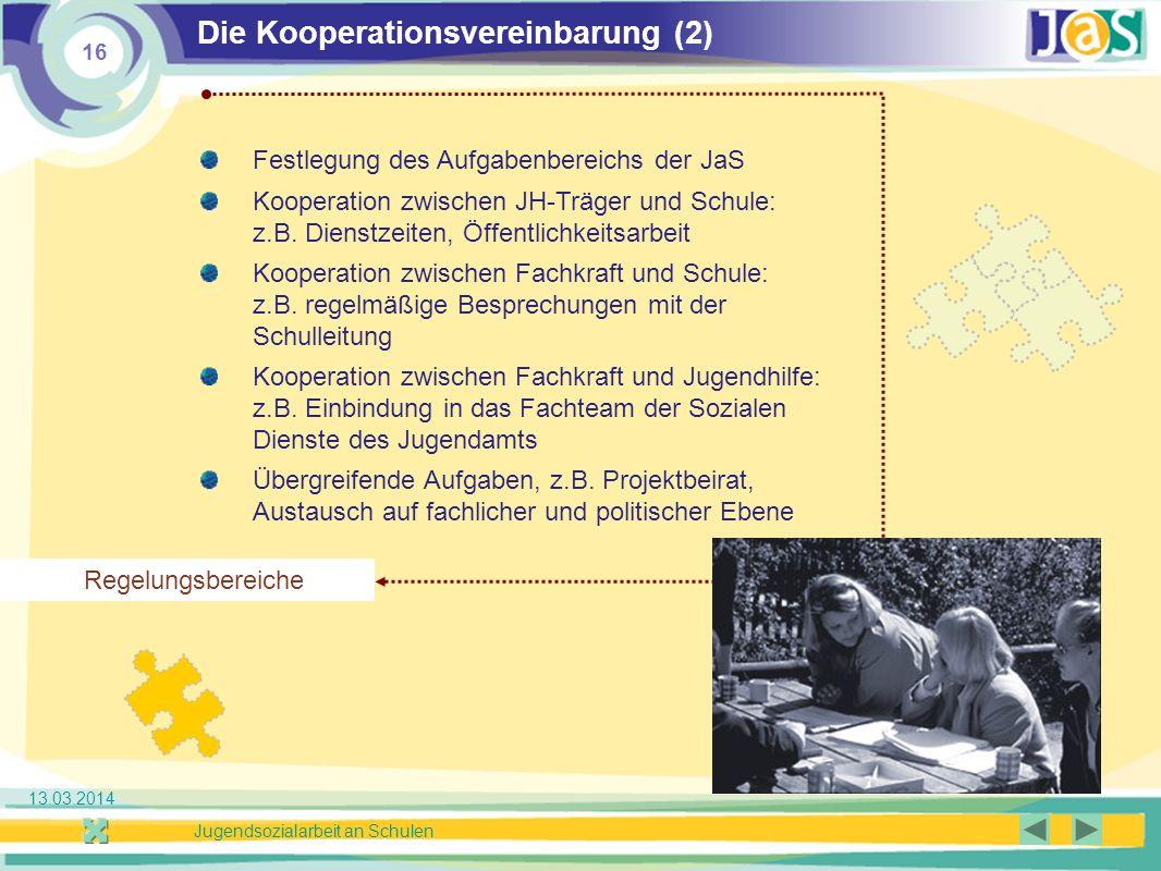 Die Kooperationsvereinbarung (2)
