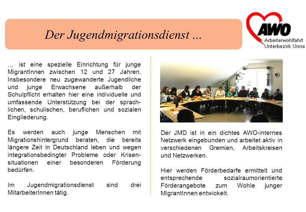 Der Jugendmigrationsdienst …