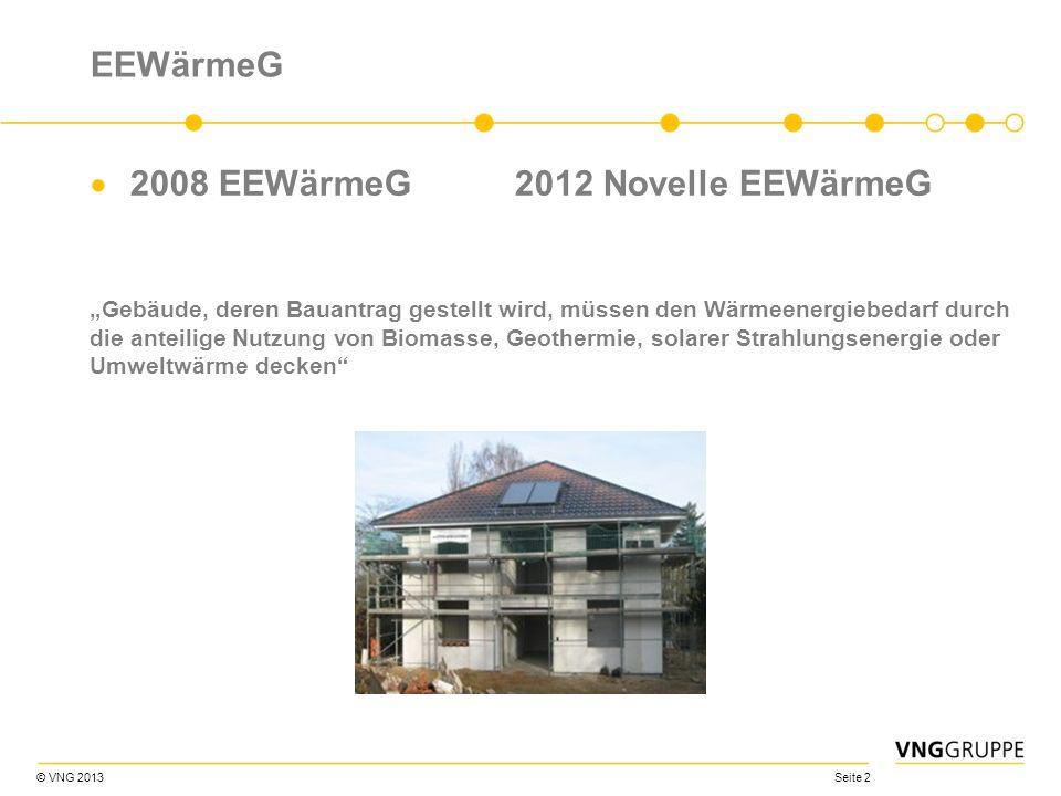 2008 EEWärmeG 2012 Novelle EEWärmeG