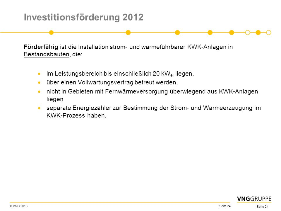 Investitionsförderung 2012