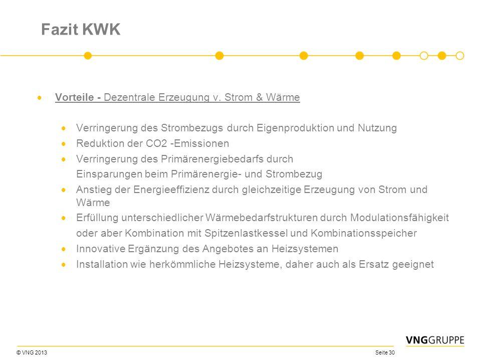 Fazit KWK Vorteile - Dezentrale Erzeugung v. Strom & Wärme