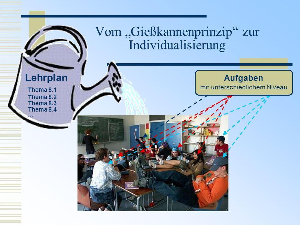 """Vom """"Gießkannenprinzip zur Individualisierung"""
