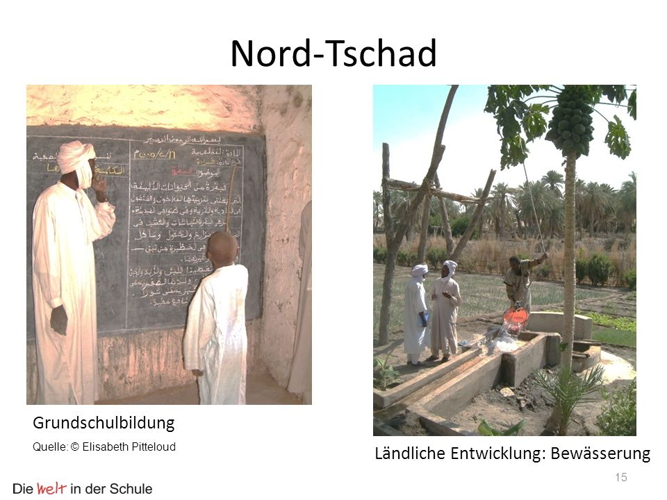Nord-Tschad Grundschulbildung Ländliche Entwicklung: Bewässerung