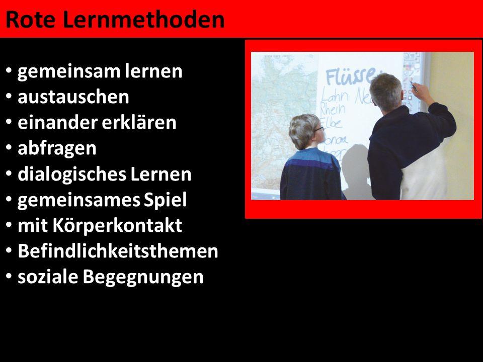 Rote Lernmethoden gemeinsam lernen austauschen einander erklären