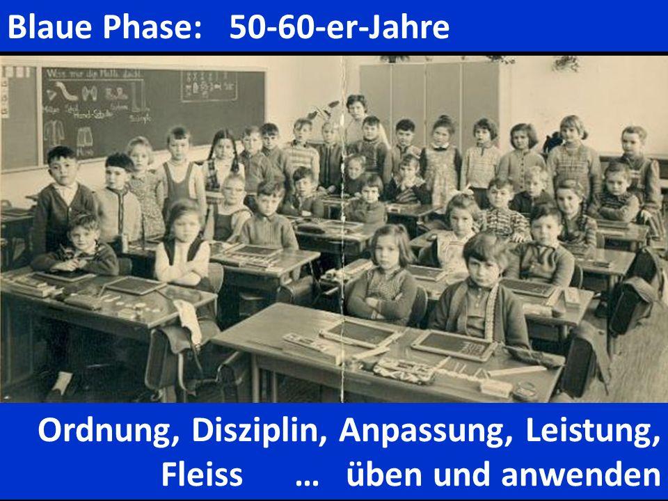 Blaue Phase: 50-60-er-Jahre
