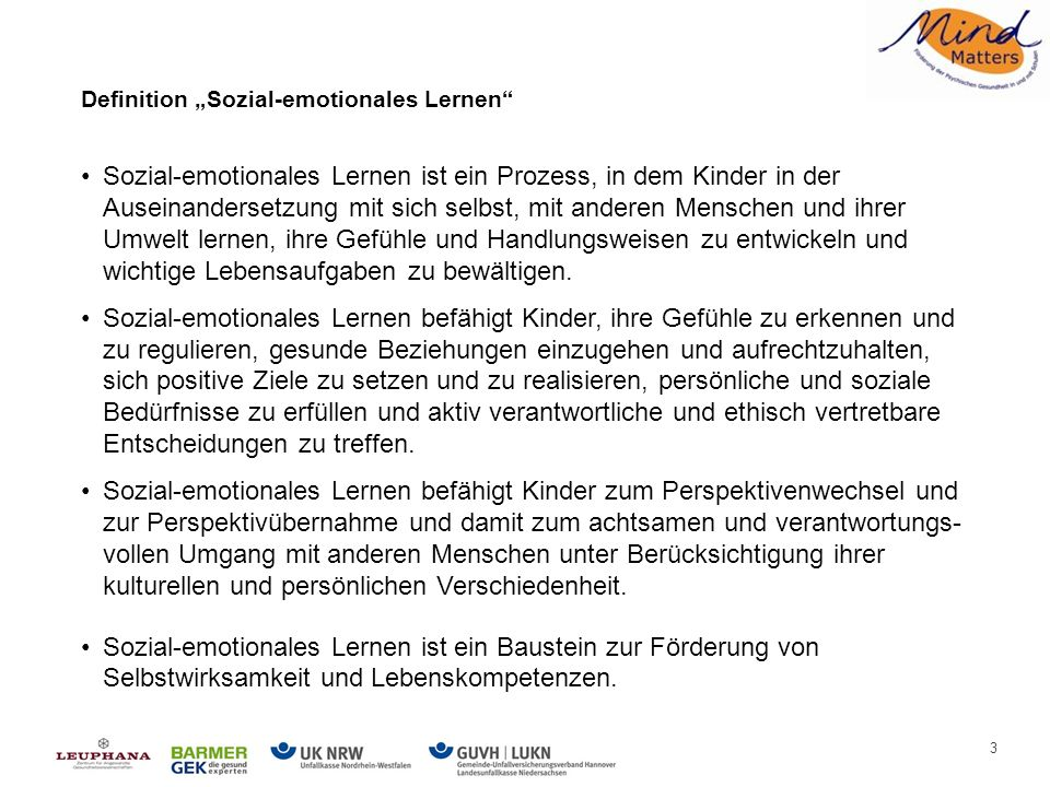 "Definition ""Sozial-emotionales Lernen"