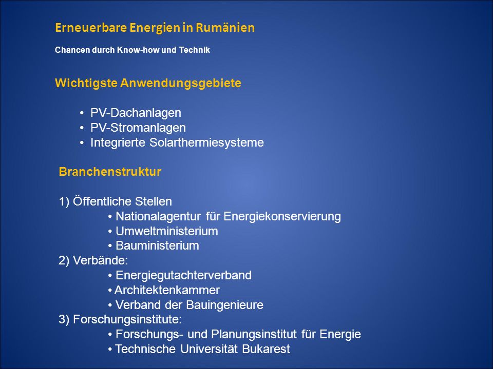 Erneuerbare Energien in Rumänien