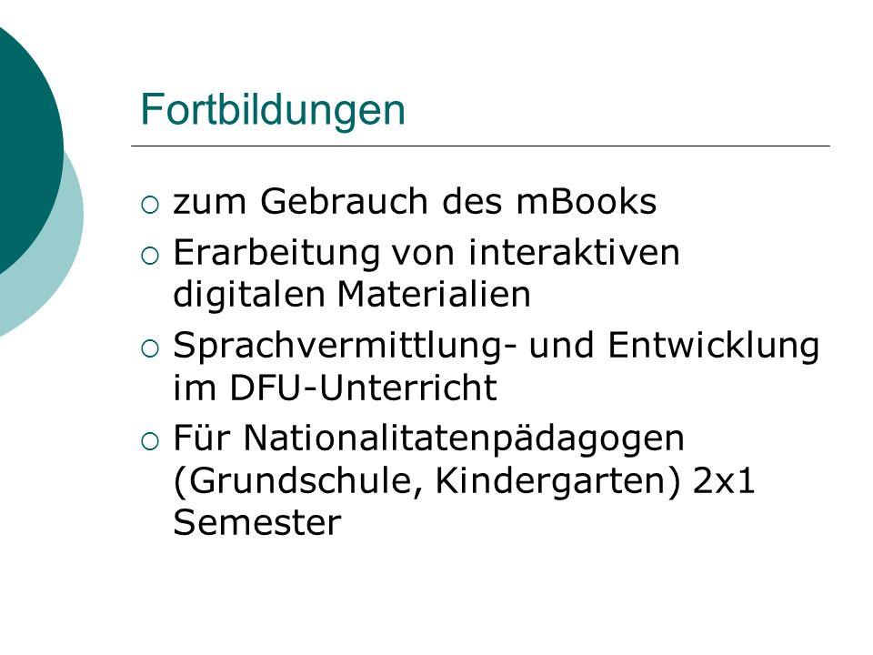 Fortbildungen zum Gebrauch des mBooks