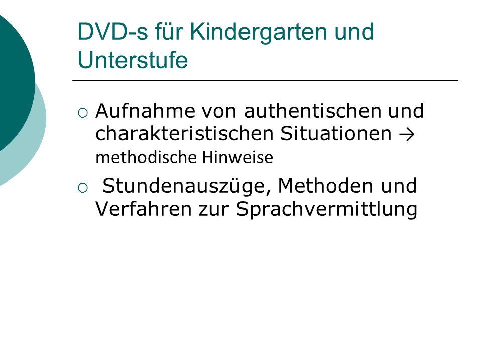 DVD-s für Kindergarten und Unterstufe
