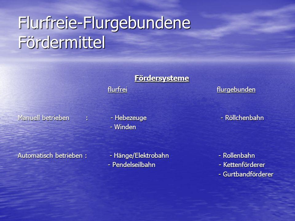 Flurfreie-Flurgebundene Fördermittel