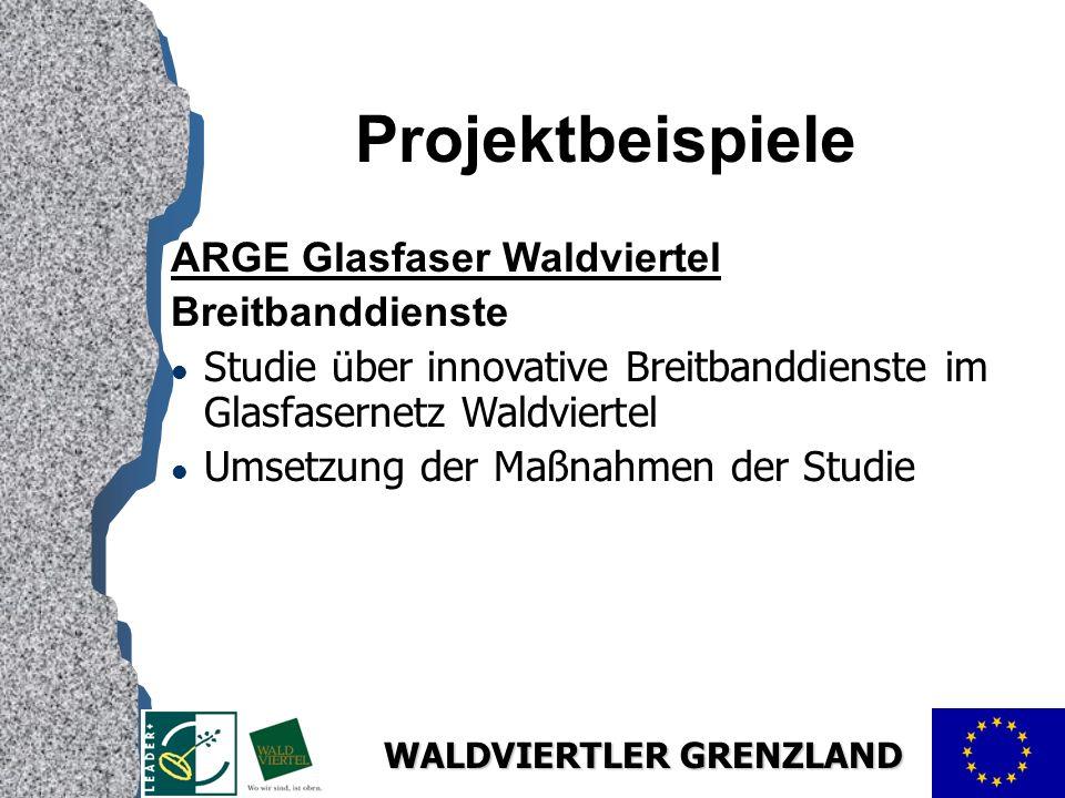 Projektbeispiele ARGE Glasfaser Waldviertel Breitbanddienste